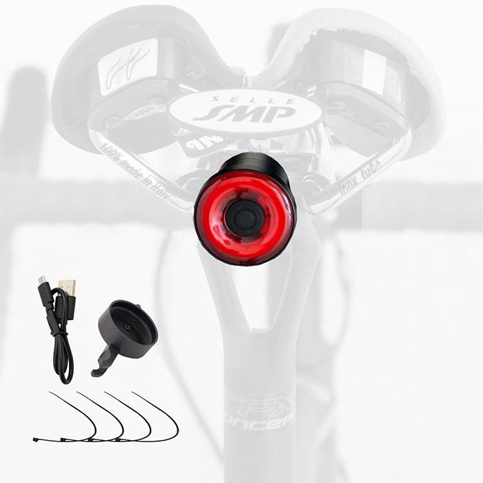 テールライト AUTO 防水 自動点灯 ブレーキ点灯 USB充電 (GX-TL100)