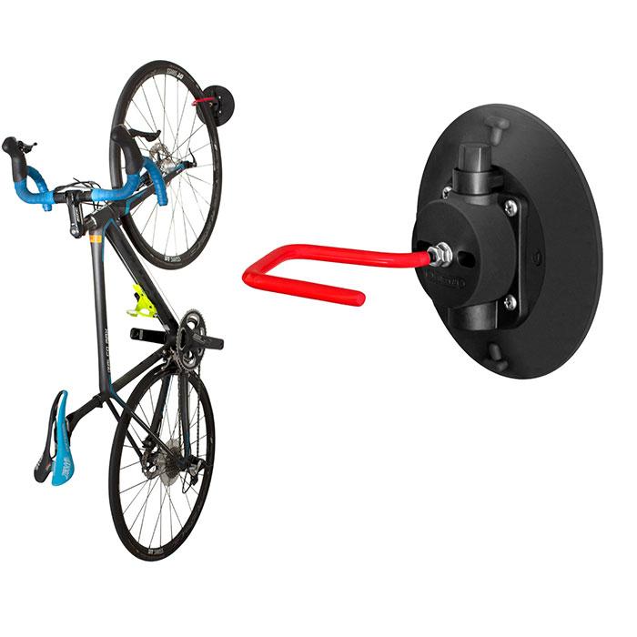 自転車スタンド 縦置き・壁掛け吸盤フック (GX-WALLUP)