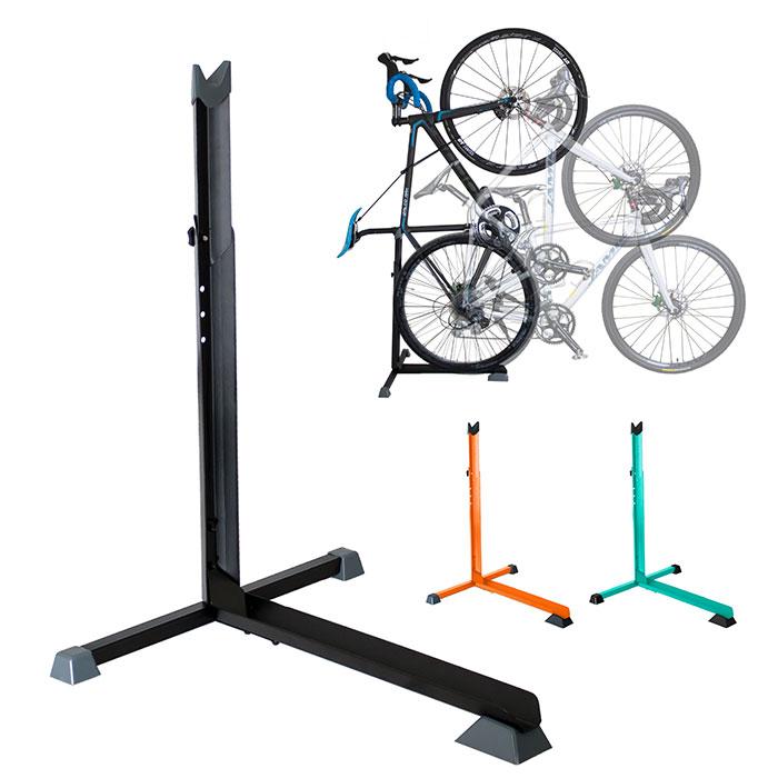 自転車スタンド 縦置き 横置き L字型 展示スタンド T14
