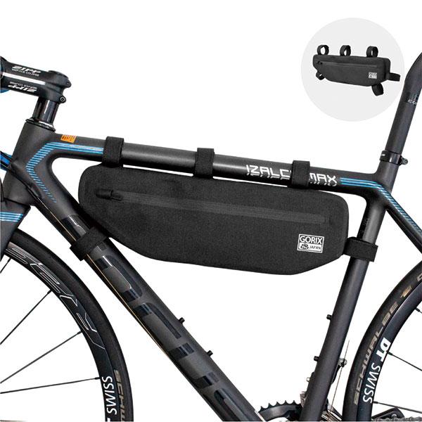 フレームバッグ 自転車 防水 (GX-FB43)トップチューブバッグ (股の下の力持ち)