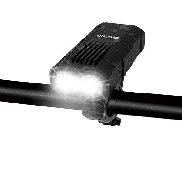 自転車ライト 高防水 usb充電 高輝度LEDライトヘッドライト  (GX-FL1644)