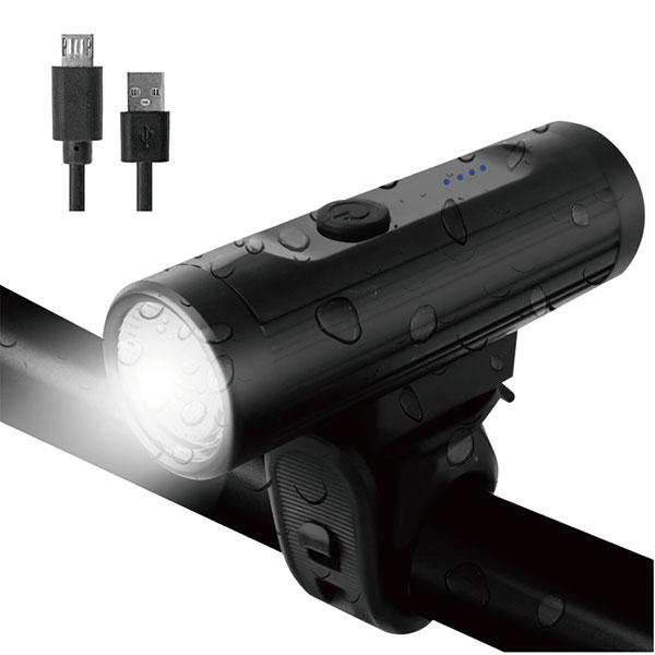 自転車ライト usb充電 防水 LED淡黄光 コンパクト(GO To ライト)(GX-FL1631)